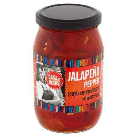 CASA DE MEXICO Papryka czerwona Jalapeno krojona (1)