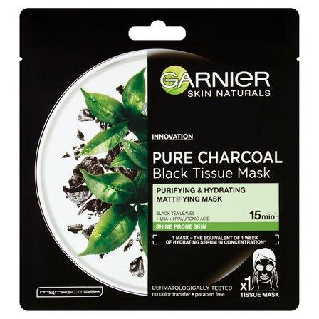 GARNIER Skin Naturals Pure Charcoal Oczyszczająca maska (1)