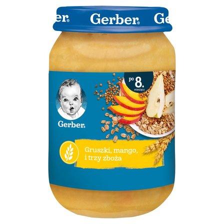 GERBER Gruszki mango i trzy zboża dla niemowląt po 8. m-cu (1)