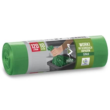 ANNA ZARADNA Worki do segregacji odpadów Szkło 120L zielone (1)