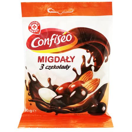 WIODĄCA MARKA Migdały w czekoladzie mix (1)