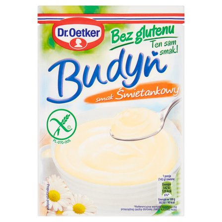 DR. OETKER Budyń bez glutenu smak śmietankowy (1)