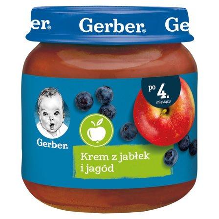 GERBER Krem z jabłek i jagód dla niemowląt po 4. m-cu (1)