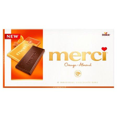 MERCI Czekolada z kawałkami migdałów i zagęszczonym sokiem pomarańczowym (1)