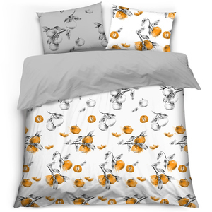 MISS LUCY Organic Komplet pościeli Tangerines 160x200cm (1)