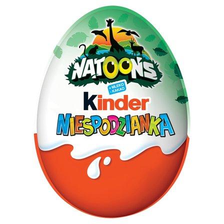 KINDER Niespodzianka Słodkie jajko z niespodzianką pokryte czekoladą mleczną (1)