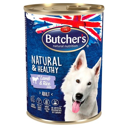 BUTCHER'S Natural & Healthy Karma dla dorosłych psów pasztet z jagnięciną (1)