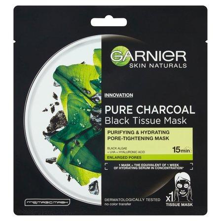 GARNIER Pure Charcoal Oczyszczająca maska na tkaninie z węglem (1)