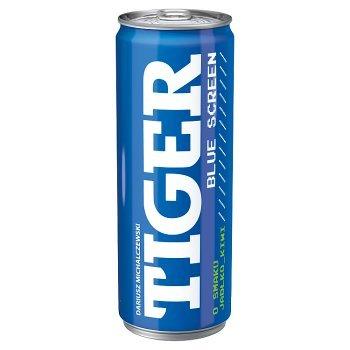 Tiger Blue Screen Gazowany napój energetyzujący o smaku jabłko-kiwi 250 ml (1)