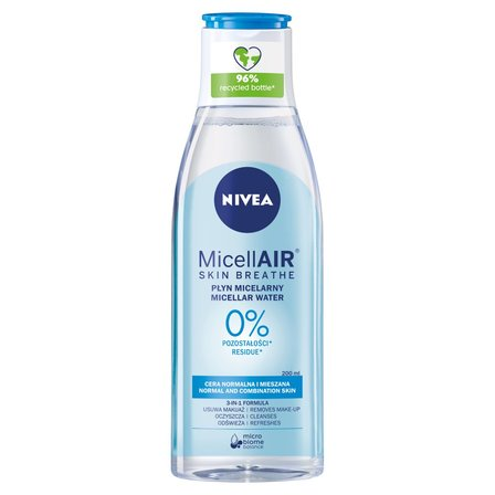 NIVEA Pielęgnujący płyn micelarny do cery normalnej i mieszanej (1)