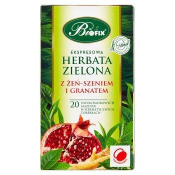 Bifix Zielona herbata ekspresowa z żeń-szeniem i granatem 40 g (20 x 2 g) (1)