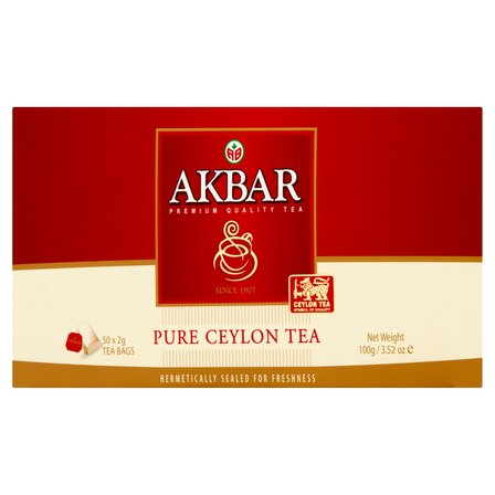 AKBAR Pure Ceylon Herbata czarna (50 tb.) (4)