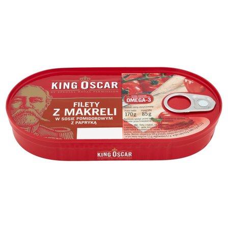 KING OSCAR Filety z makreli w sosoe pomidorowym z papryką (1)