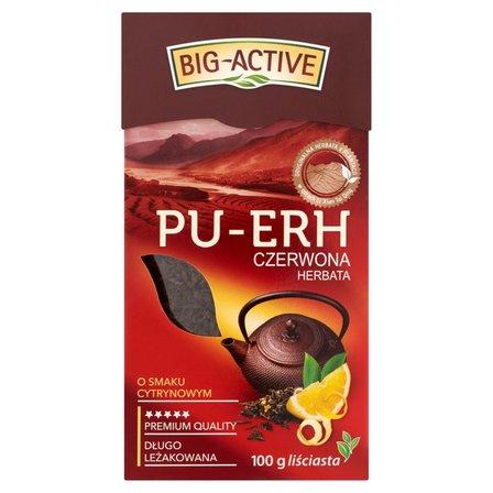 BIG-ACTIVE Pu-Erh Herbata czerwona o smaku cytrynowym liściasta (2)