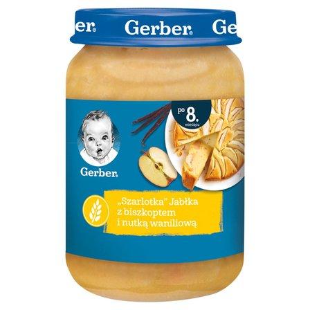 GERBER Szarlotka Jabłka z biszkoptem i nutką waniliową dla niemowląt po 8. m-cu (1)
