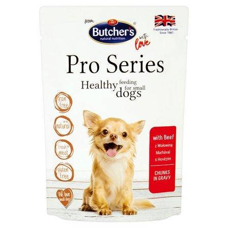 BUTCHER'S Pro Series Karma dla dorosłych psów kawałki w sosie z wołowiną (1)