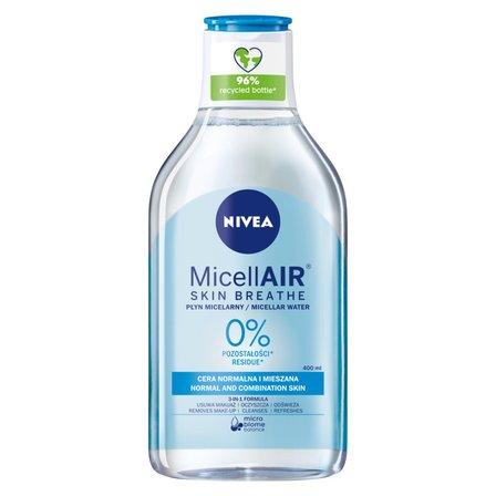NIVEA MicellAir Skin Breathe Odświeżający płyn micelarny do cery normalnej i mieszanej (1)