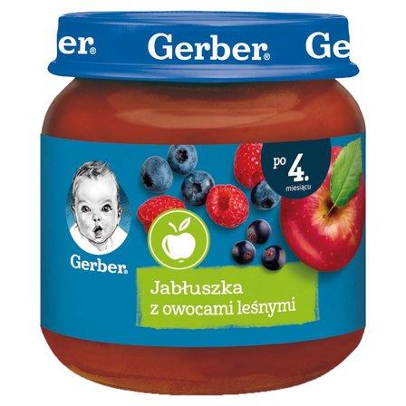GERBER Jabłuszka z owocami leśnymi dla niemowląt po 4. m-cu (1)