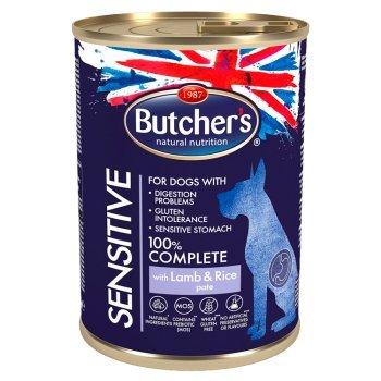 Butcher's Sensitive Karma dla psów dorosłych psów pasztet z jagnięciną i ryżem 390 g (1)