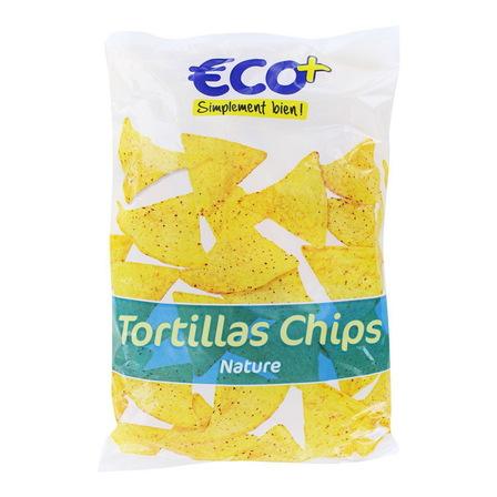 ECO+ Tortilla Trójkątne chipsy kukurydziane solone (1)