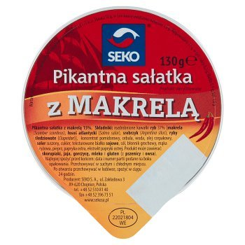 Seko Pikantna sałatka z makrelą 130 g (1)