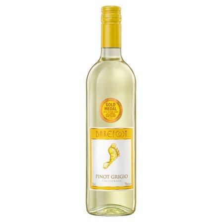 BAREFOOT Pinot Grigio Wino białe półwytrawne kalifornijskie (1)