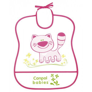 CANPOL BABIES  Śliniak plastikowy miękki 6m+ (4)