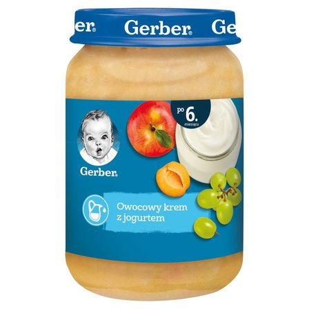 GERBER Owocowy krem z jogurtem dla niemowląt po 6. m-cu (1)
