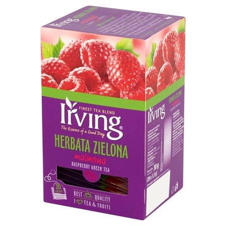 IRVING Herbata zielona malinowa (20 tb.) (1)