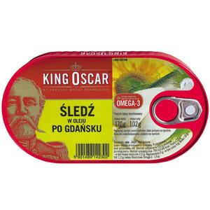 KING OSCAR Śledź w oleju po gdańsku (1)