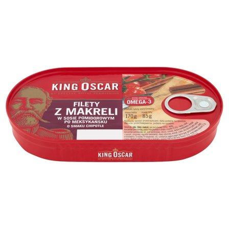KING OSCAR Filety z makreli w sosie pomidorowym po meksykańsku o smaku chipotle (1)