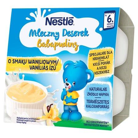 NESTLE Mleczny Deserek o smaku waniliowym dla niemowląt po 6. m-cu (4 x 100 g) (1)