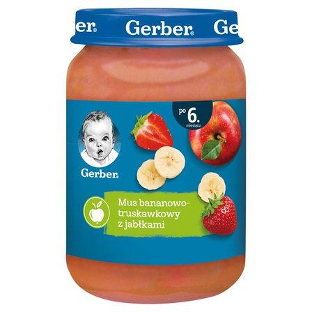GERBER Mus bananowo-truskawkowy z jabłkami dla niemowląt po 6. m-cu (1)