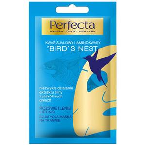 PERFECTA Kwas sjalowy i aminokwasy z Bird's Nest Azjatycka maska na tkaninie (1)