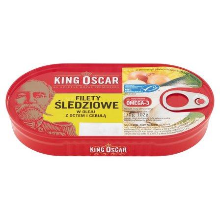 KING OSCAR Filety śledziowe w oleju z octem i cebulą (1)