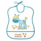 CANPOL BABIES  Śliniak plastikowy miękki 6m+ (5)