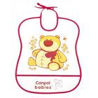CANPOL BABIES  Śliniak plastikowy miękki 6m+ (2)
